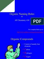 Organic Naming Rules PDF
