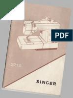Maquina Singer 2210 Manual en ingles y español versión original