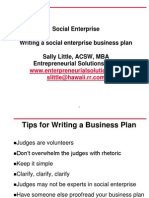 Writing a Social Enterprise Business Plan