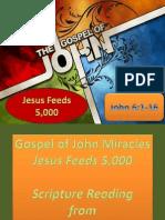 Gospel of John Miracles Jesus Feeds 5,000