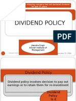 Final Dividend Policy