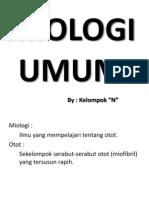 MIOLOGI UMUM