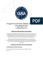 By-Laws of the Georgetown University Student Association