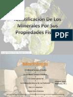 Identificacion de Los Minerales Por Sus Propiedades Fisicas