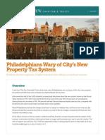 Philadelphia Taxes Poll [PEW]