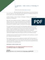 JMET 2009 – Online Application – Indian Institute of Technology