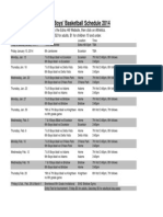 EHMS Boys BBall Schedule 2014