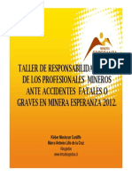 Responsabilidad Penal - Minera Esperanza Agosto 2012