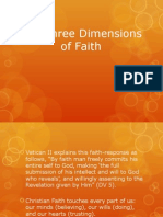 The Three Dimensions of Faith