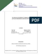 Inline Liquid Flow Calibration Advanced Methods