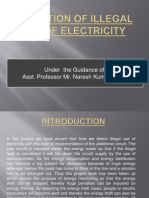 detection of illegal use of electricity