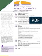 NANM Autumn Conference 2009 Agenda