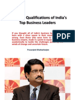 Academic Qualifications of India's Top Business Leaders