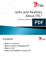 Myths and Realities About ITIL
