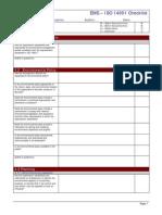 Internal Audit Checklist ISO 14001