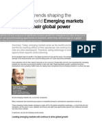 Six Global Trends Shaping the Business World Emerging Markets