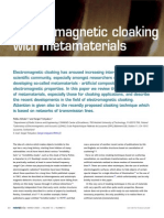 Electromagnetic Cloaking With Metamaterials