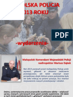 Rok 2013 z Malopolska Policja