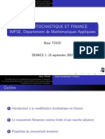 Calcul Stochastique Finance 07 L1