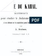 Brafmann Jacob - Livre Du Kahal