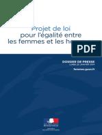 Dossier de presse - Projet de loi pour l'égalité entre les femmes et les hommes