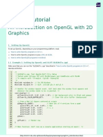 An Introduction on OpenGL With 2D Graphics - OpenGL Tutorial