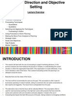 Lecture 6 Strategic Direction and Objective Setting
