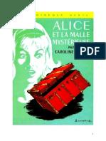 Caroline Quine Alice Roy 17 BV Alice et la malle mystérieuse 1940