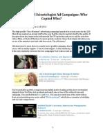 Mormon and Scientologist Ad Campaigns