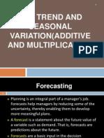 Chapter 3 - Forecasting