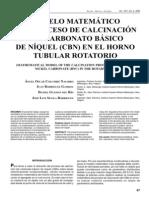 Calcination model