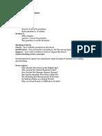 LSE100 Revision