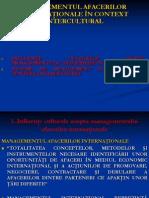 Curs 9 - Managementul Afacerilor Internationale in Context Intercultural