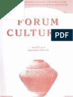Revista Forum cultural, anul IV, nr. 3, septembrie 2004 (14)