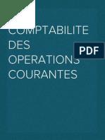 Comptabilite Des Operations Courantes