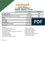 Academic Calendar Januari 2014 FOUNDATION