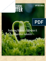 Agri and Aqua Culturing Newsletter Sept 2013 Quarterly