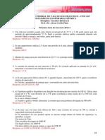 Primeira Lista de Execicios - Cicuitos Eletricos I - 2013-01