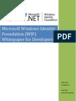 WindowsIdentityFoundationWhitepaperForDevelopers-RTW