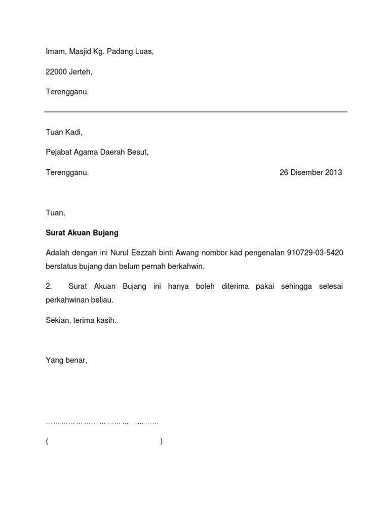 Surat Akuan Bujang