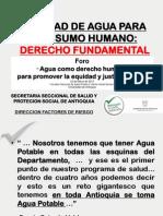 Agua de Consumo Humano -Derecho Fundamental (22!03!2013)