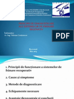 Diagnosticarea Sistemelor de Franare Regenerativ