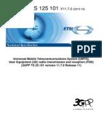 User Equipment (UE) radio transmission and reception (FDD)