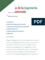 Historia de la ingeniería en Guatemala