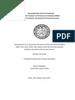 Informe Final de Sistematizacion, Bonifacio García Sis, Chisec Alta Verapaz
