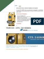 Estación Total Serie GTS 240NW