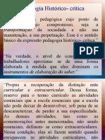 Pedagogia Historico- Critica Slide
