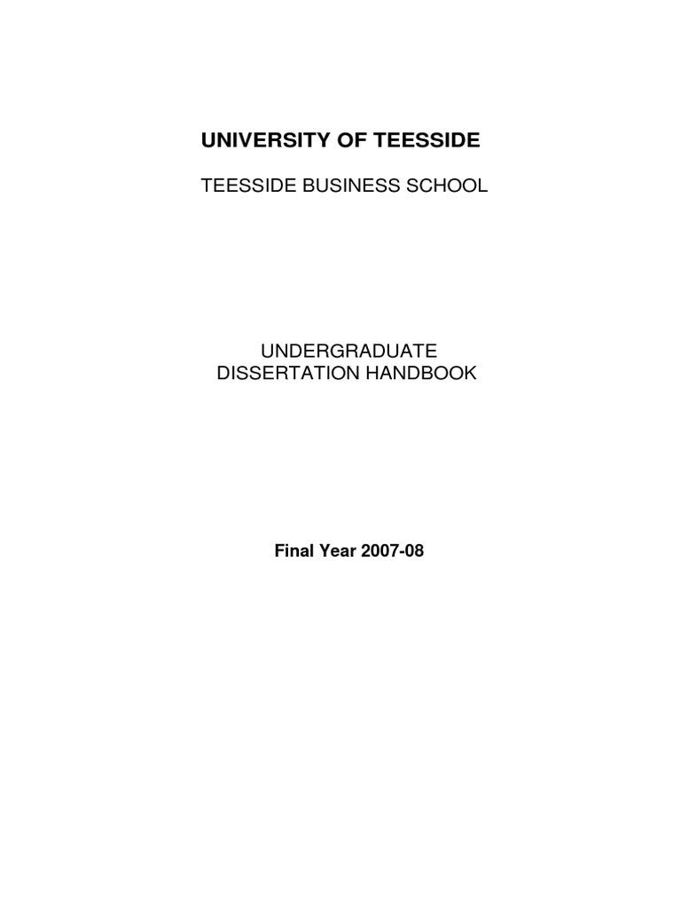 Dissertation handbook