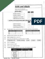 Acids and Alkalis pH worksheets