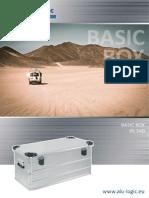 Aluminum storage box - Basic Box DL 540